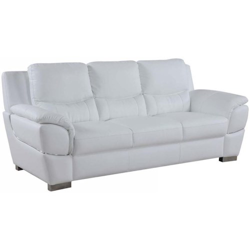 Global Furniture 4572 4572- White Sofa