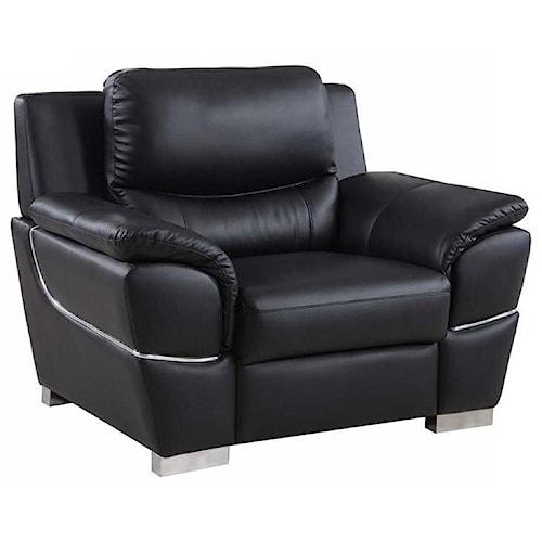 Global Furniture 4572 4572- Black Chair
