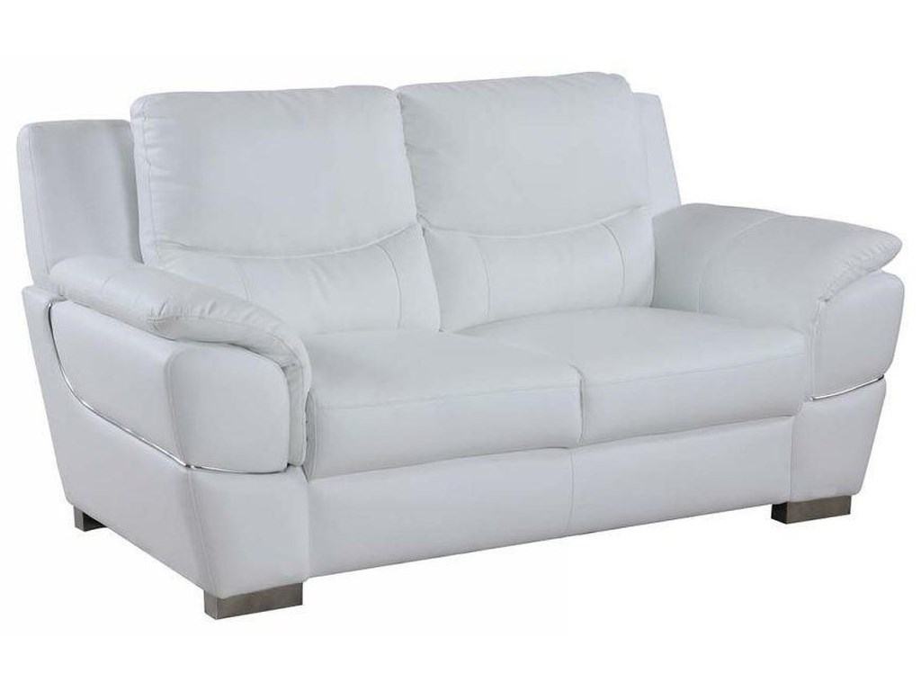 Global Furniture 4572White Love Seat
