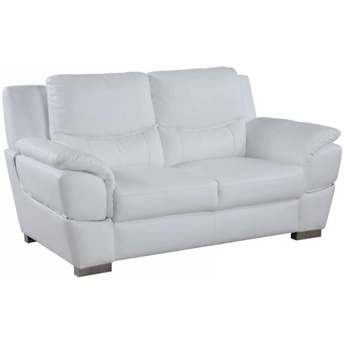 Global Furniture 4572 4572- White Love Seat