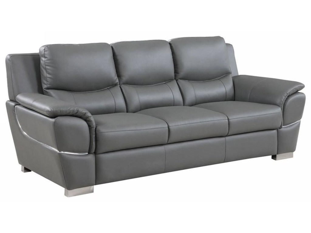 Global Furniture 4572Gray Sofa