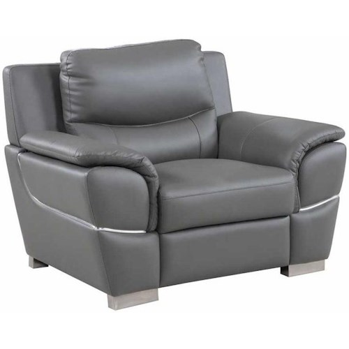 Global Furniture 4572 4572- Gray Chair