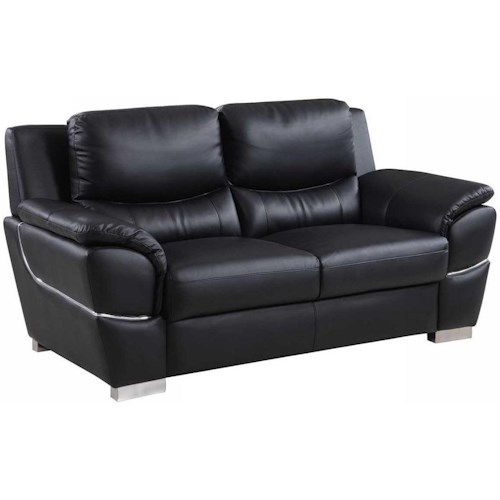 Global Furniture 4572 4572- Black Love Seat