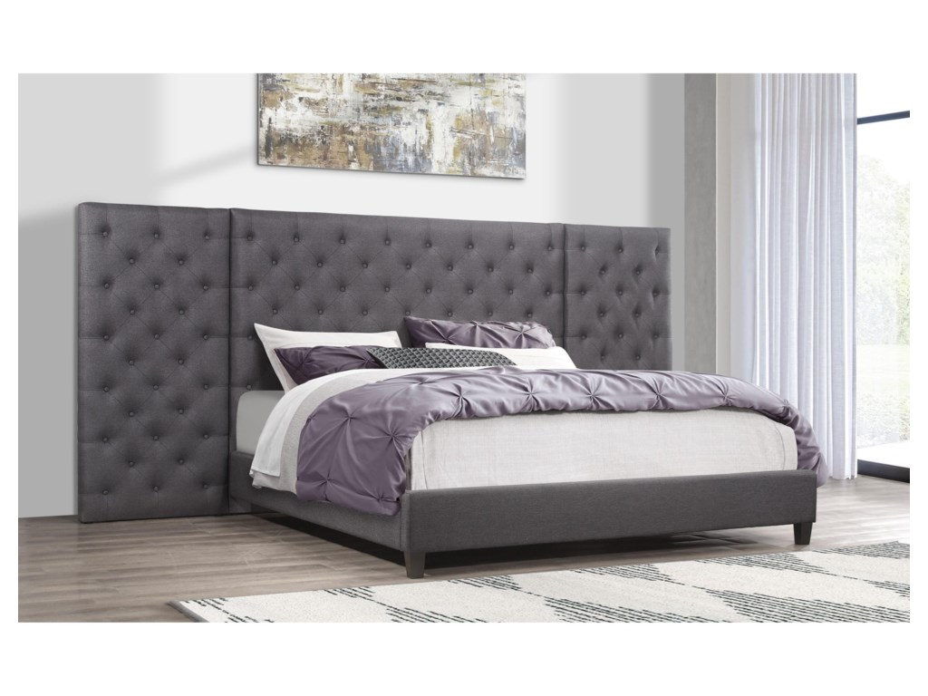 Global Furniture 9098Upholstered Full Bed