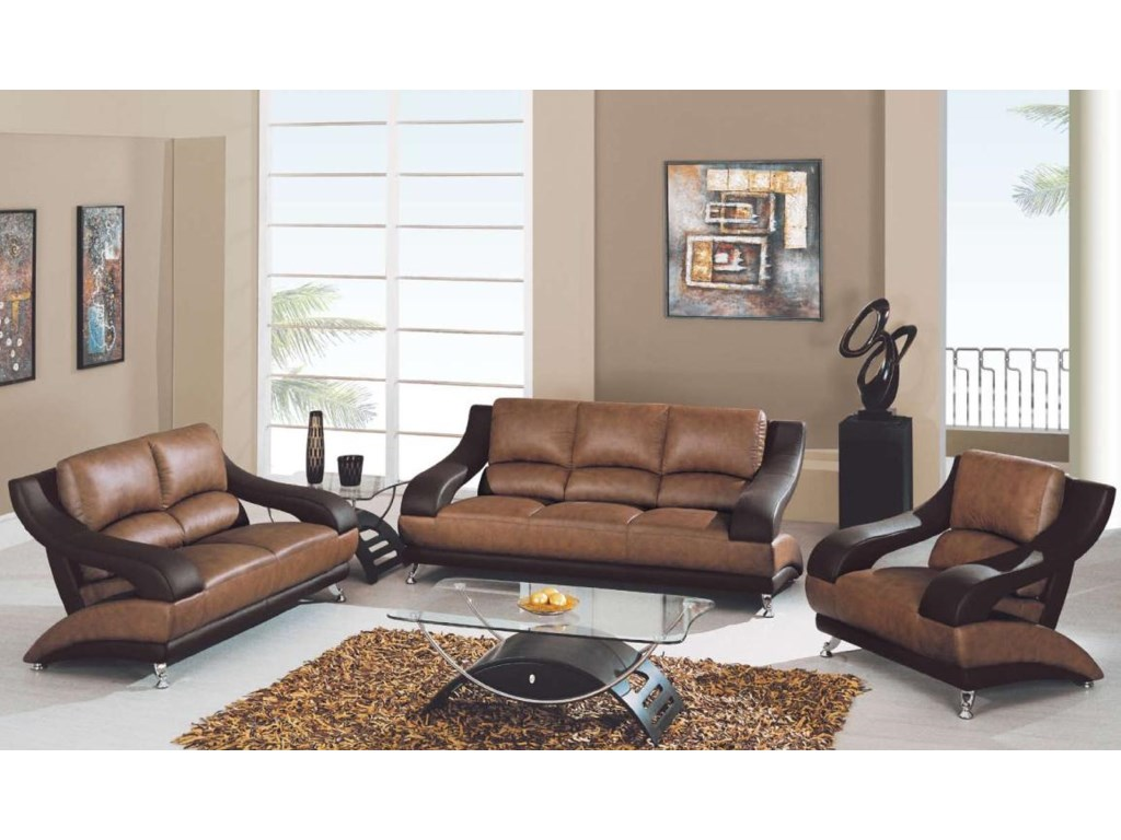 Global Furniture 928Contemporary Love Seat