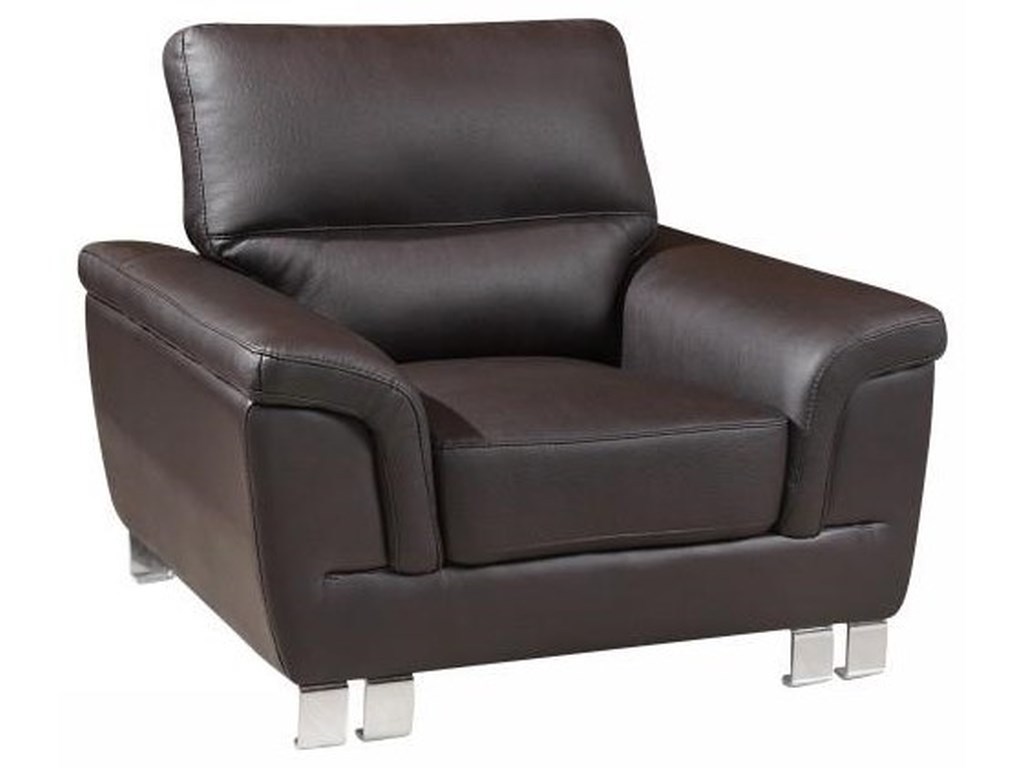 Global Furniture 9412Brown Chair