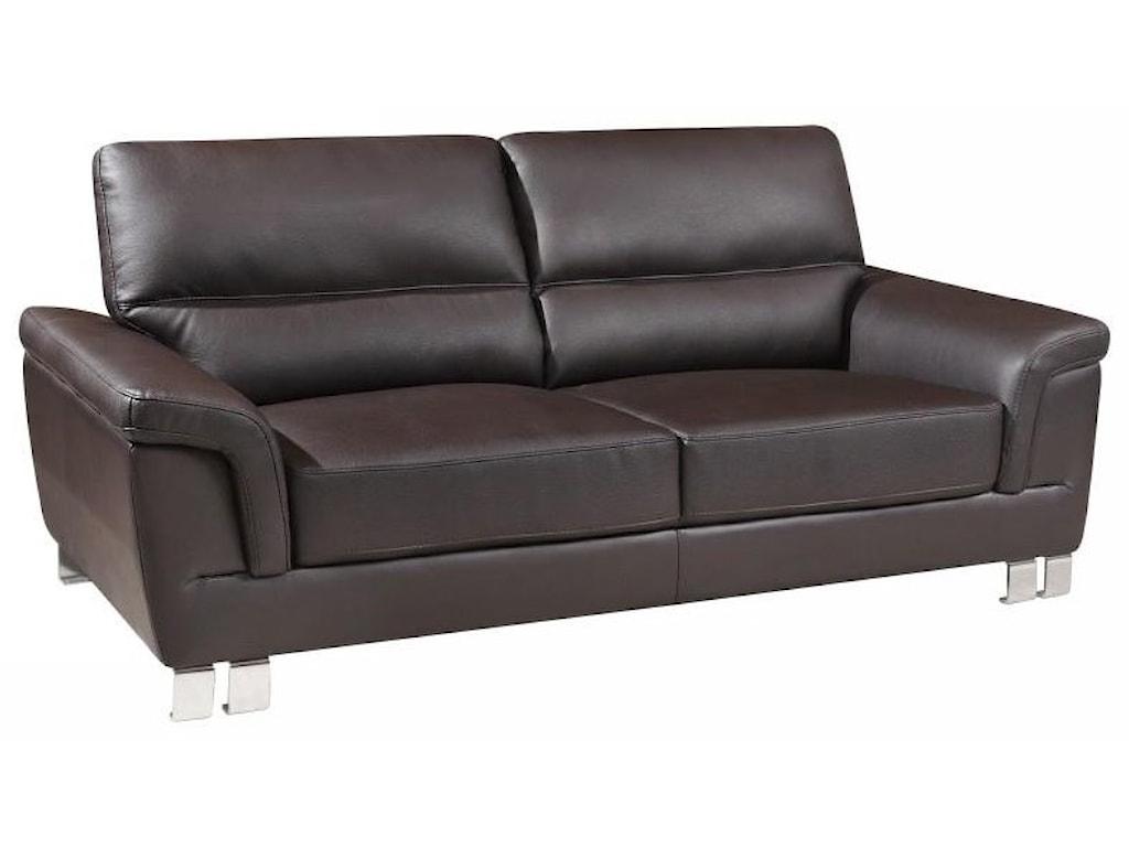 Global Furniture 9412Brown Sofa