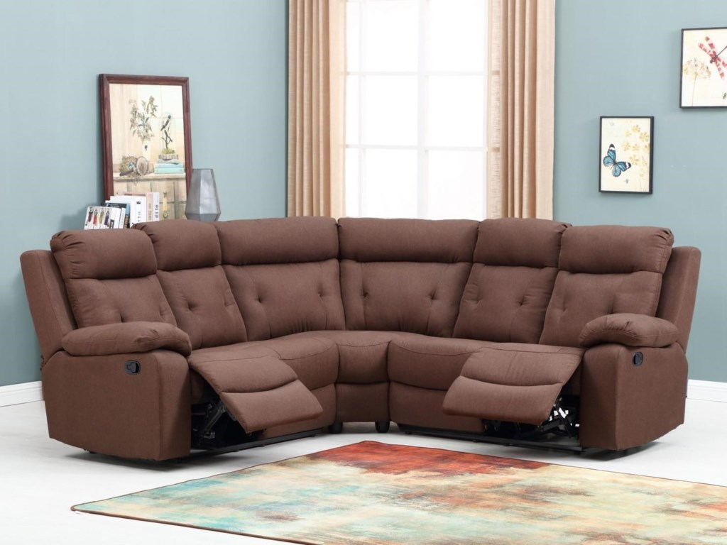 Global Furniture 9443Reclining Sectional Sofa