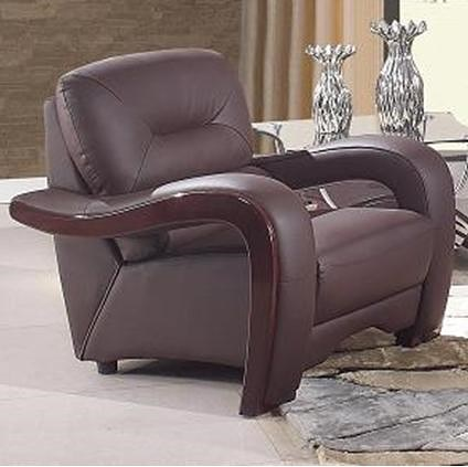 Global Furniture 992 Modern Leather Arm Chair