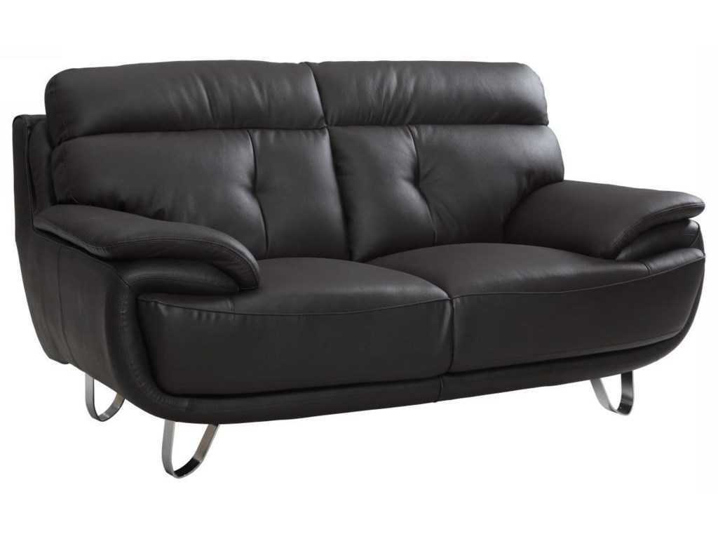 Global Furniture A159Brown Love Seat