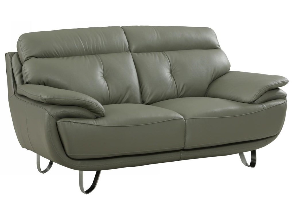 Global Furniture A159Gray Love Seat