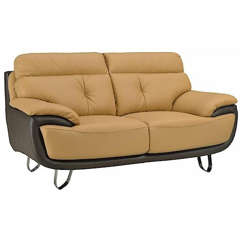 Global Furniture A159 A159 - Two-Tone Love Seat
