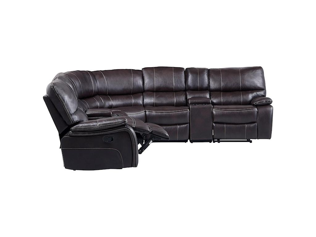 Global Furniture AgnesReclining Sectional