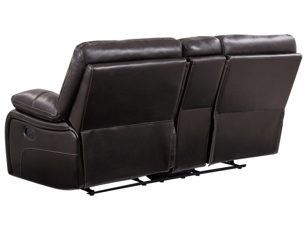Global Furniture AgnesReclining Loveseat with Console