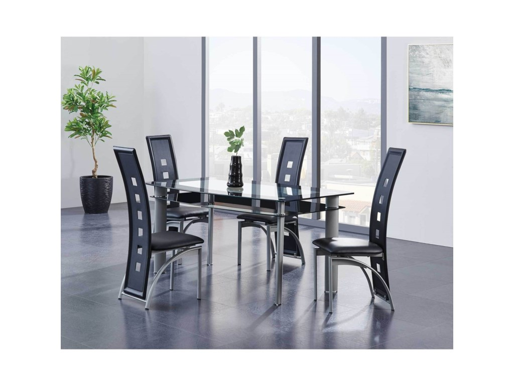 Global Furniture D1058Dining Chair with Cut-Out Details