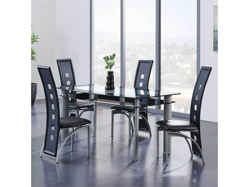 Global Furniture D10585-Piece Table and Chair Set