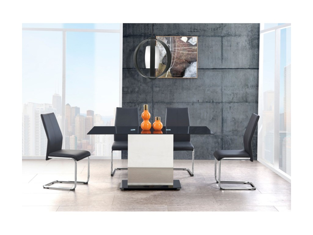 Global Furniture D1530DT Contemporary Dining Table with ...