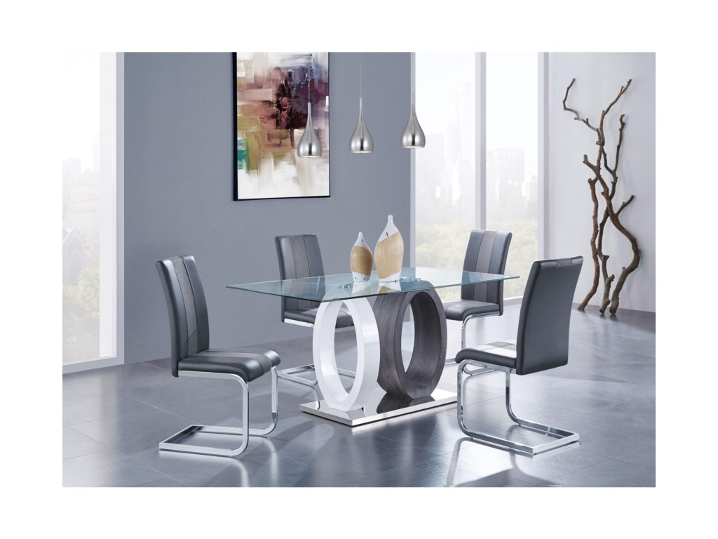 Global Furniture D1628Oval Base Dining Table