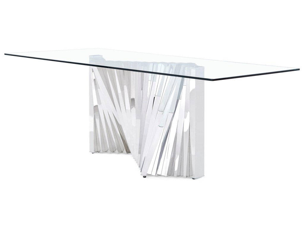 D2056 Accordion Style Dining Table By Global Furniture