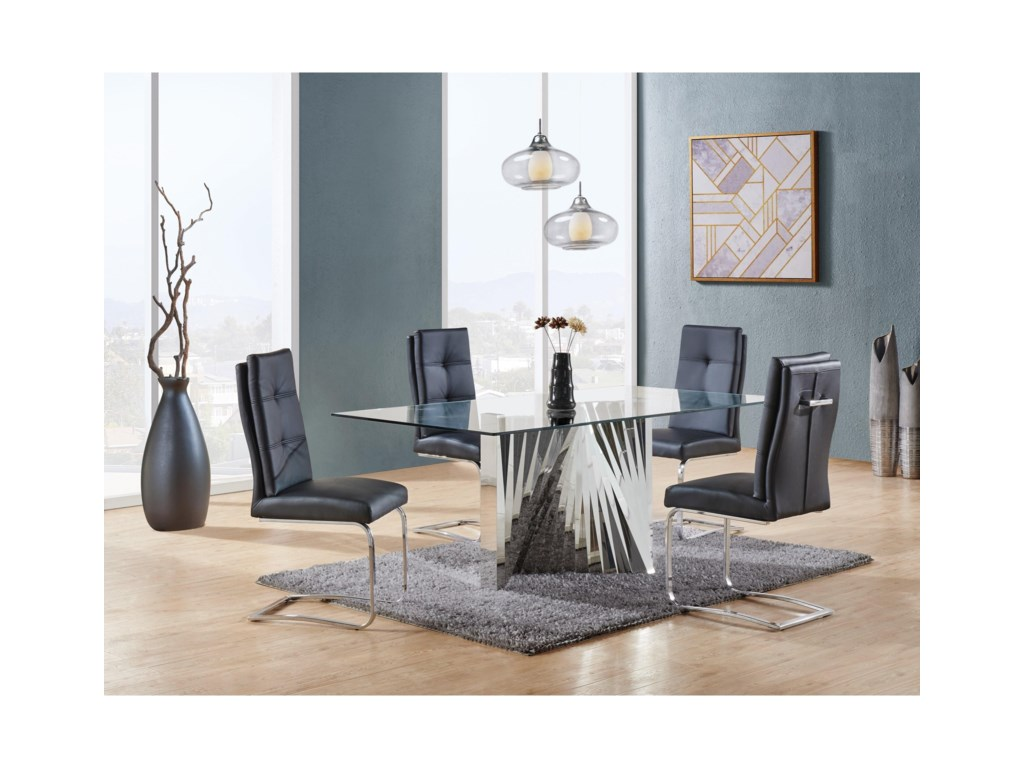 Global Furniture D2056Accordion Style Dining Table