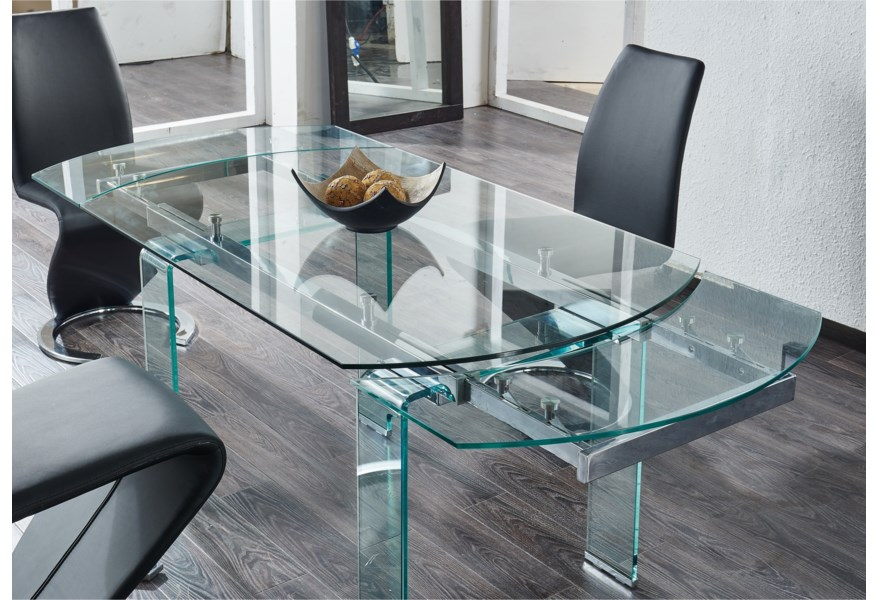Global Furniture D2160 Extendable Dining Table Value City Furniture Dining Tables