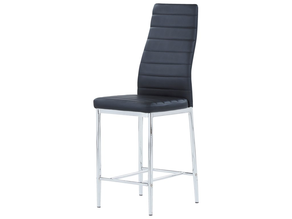 D368 Padded Bar Stool With Stainless Steel Legs By Global Furniture