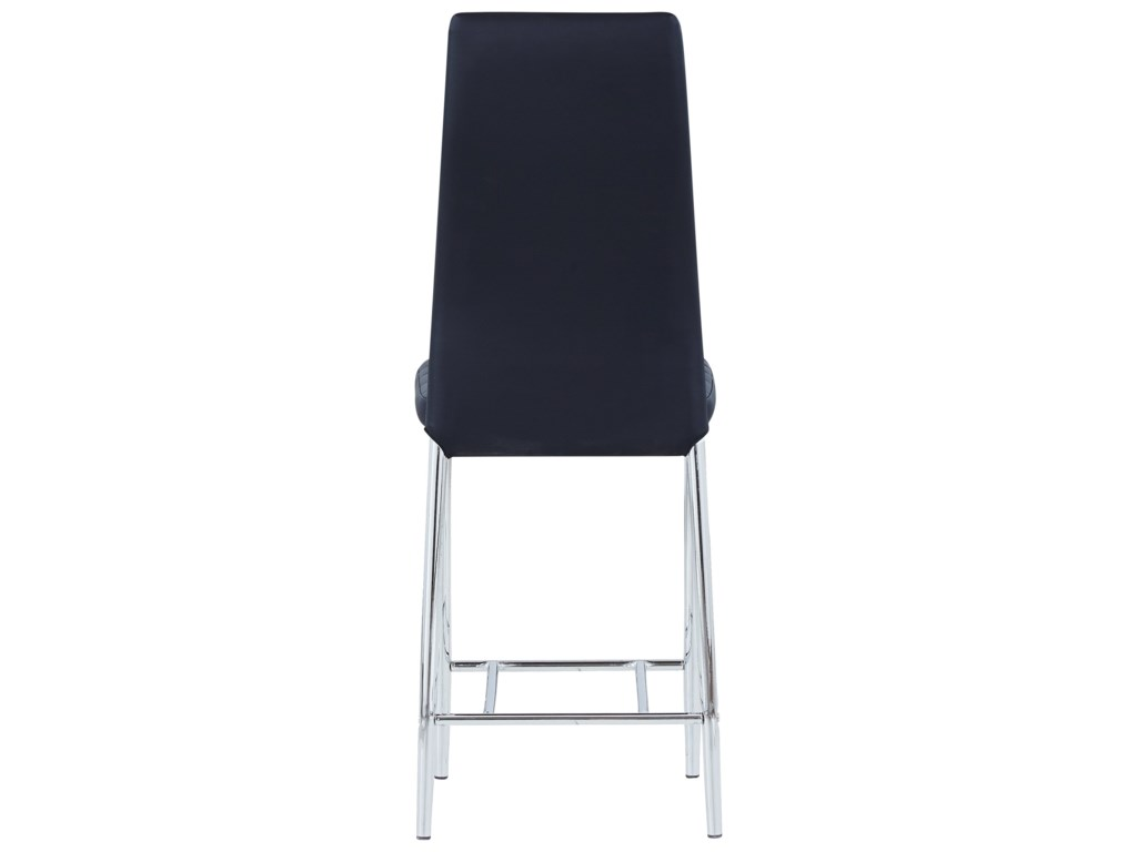 Global Furniture D368Padded Bar Stool With Stainless Steel Legs