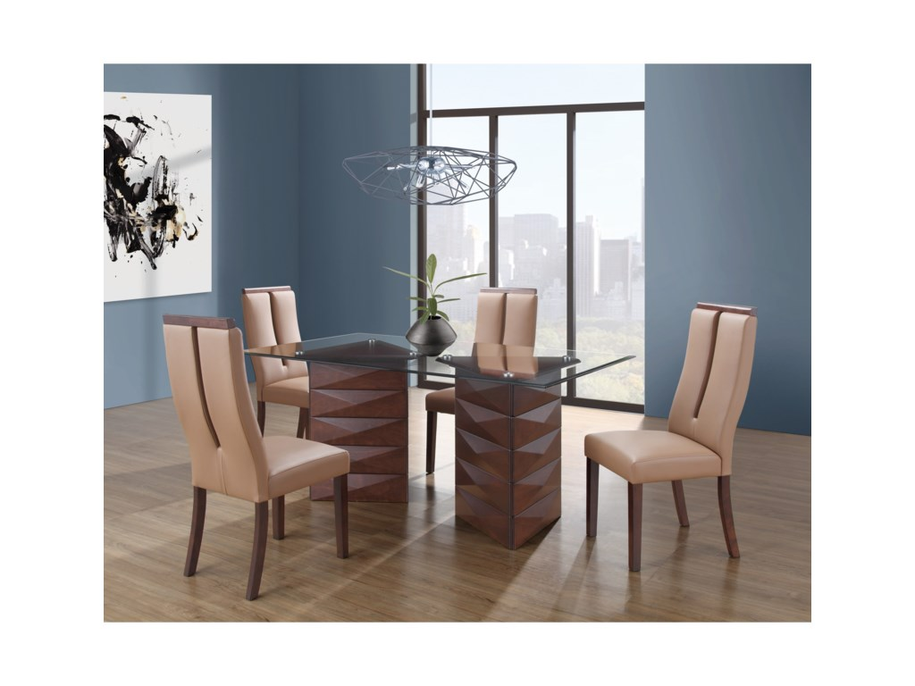 Global Furniture D39725 Piece Table and Chair Set