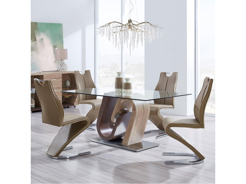 D4126 5 Piece Table and Chair Set