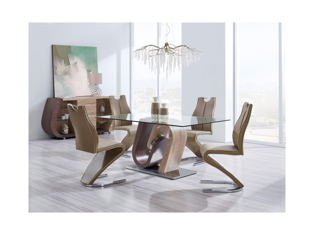 Global Furniture D4126Glass Dining Table