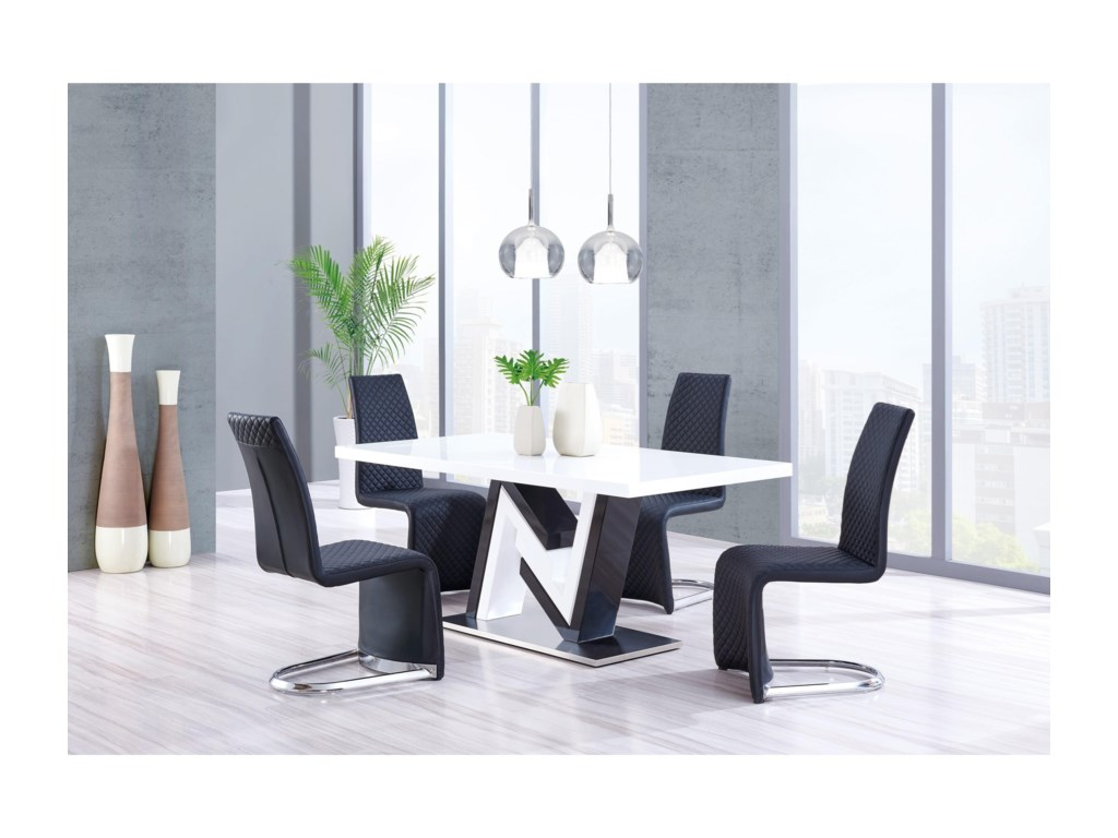 Global Furniture D4163High Gloss Dining Table