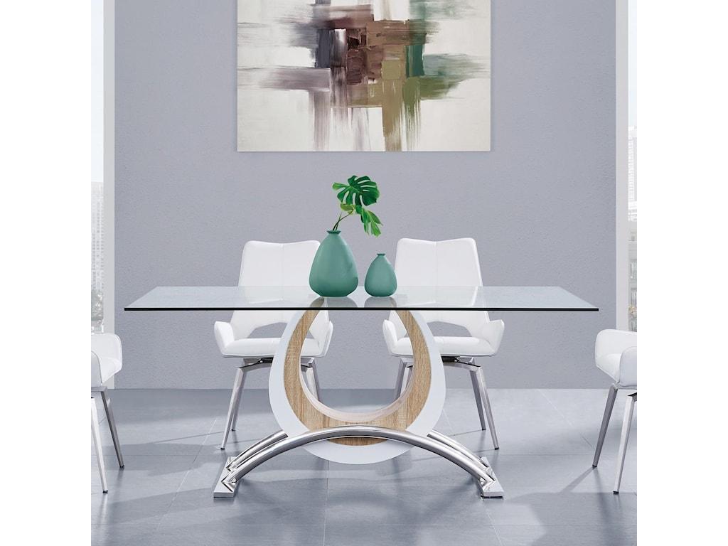 Global Furniture D4202Horseshoe Base Dining Table