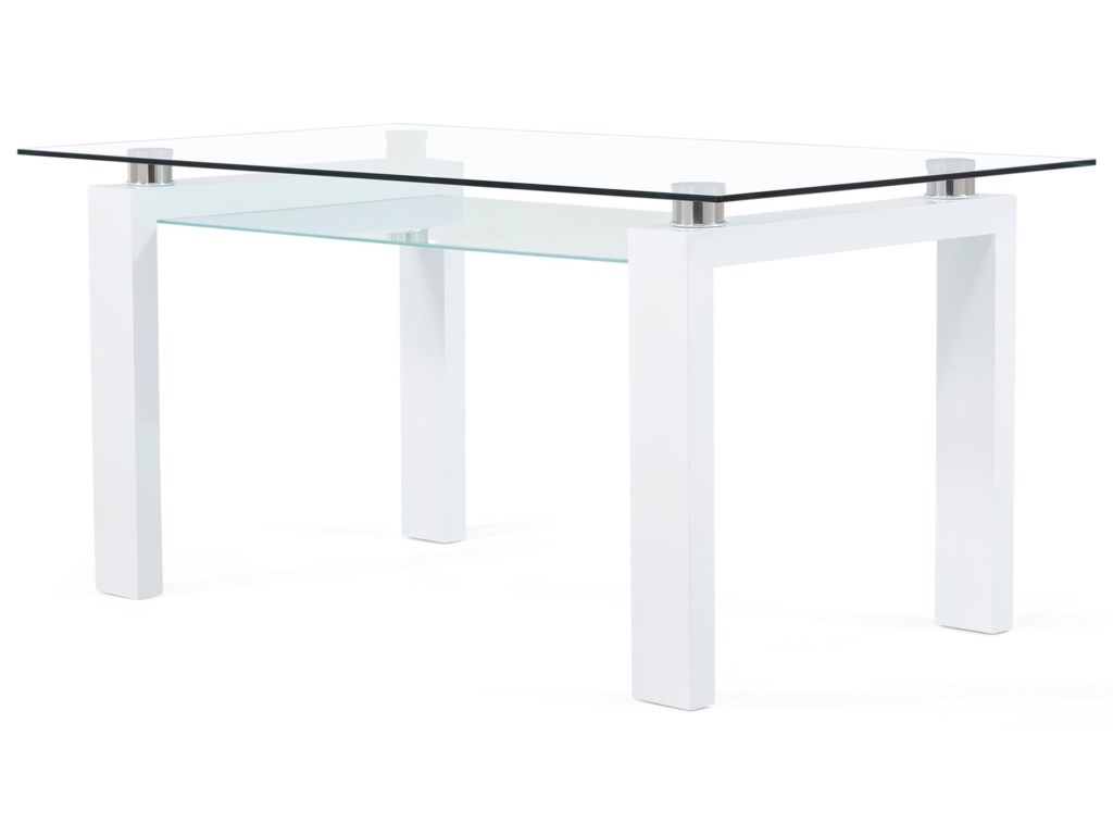 Global Furniture D648Frosted Glass Dining Table