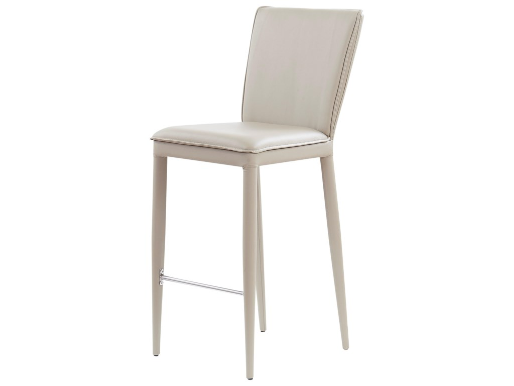 Global Furniture D6605Bar Stool With Stainless Steel Footrest