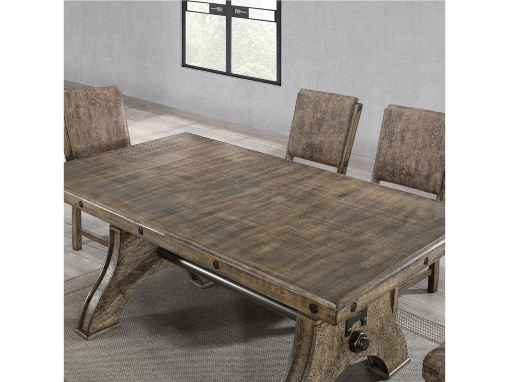 Global Furniture D855Work Bench Style Dining Table