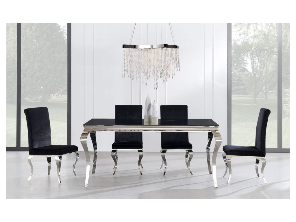 Global Furniture D8585 Piece Table and Chair Set