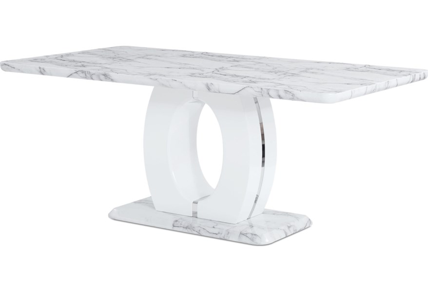 Global Furniture D894 Faux Marble Pedestal Base Dining Table Value City Furniture Dining Tables