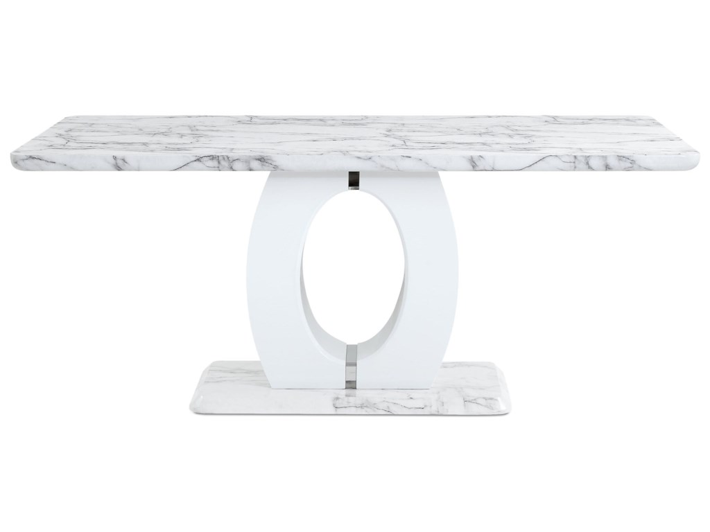 Global Furniture D894Faux Marble Pedestal Base Dining Table