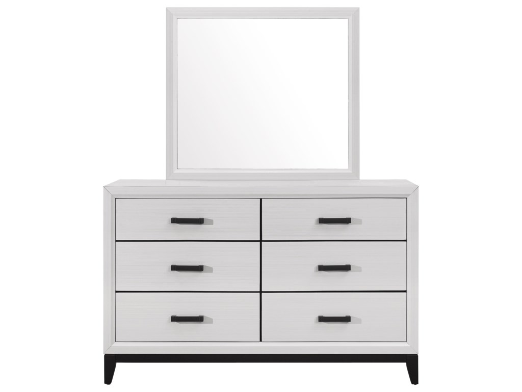 Global Furniture KateDresser and Mirror Set