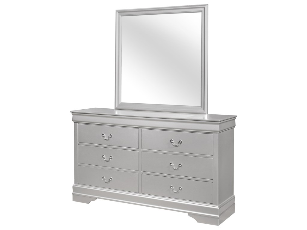 Global Furniture MarleyDresser and Mirror Set