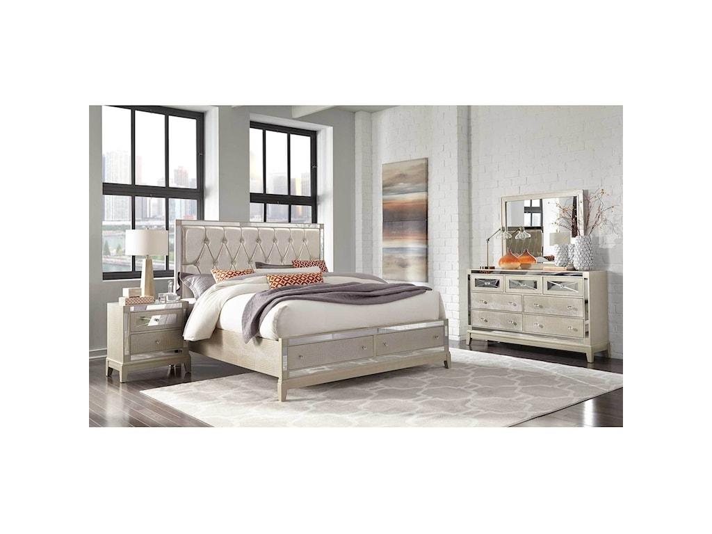 Global Furniture MirrorKing Storage Bed