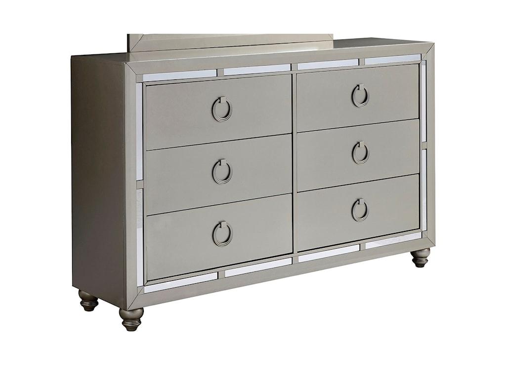 Global Furniture RileyDresser and Mirror Combo