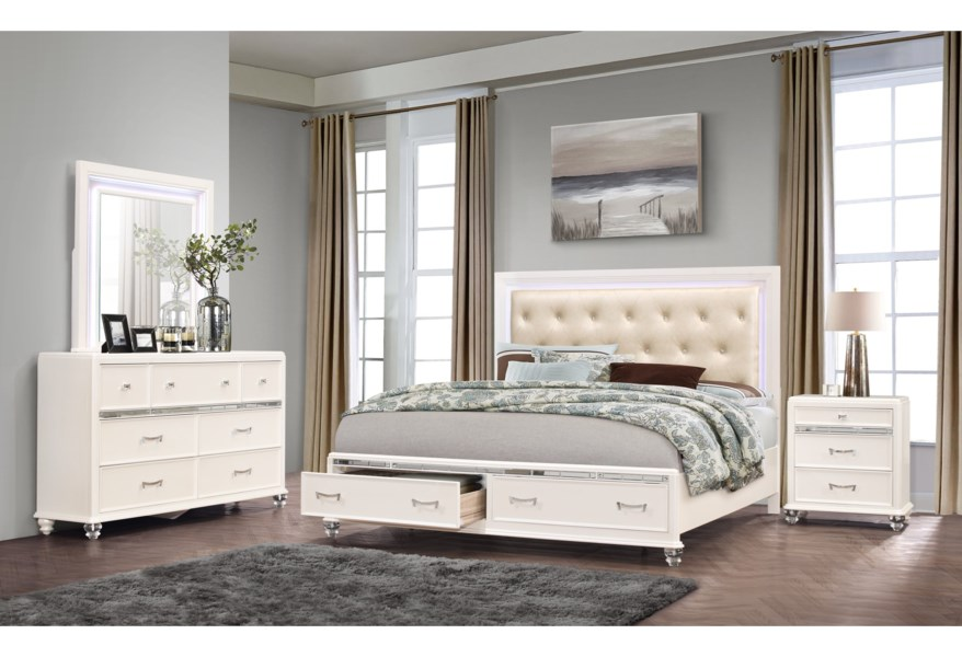 Global Furniture Sofia Glam 6 Drawer Dresser With Felt Lined Top Drawers Rooms For Less Dressers