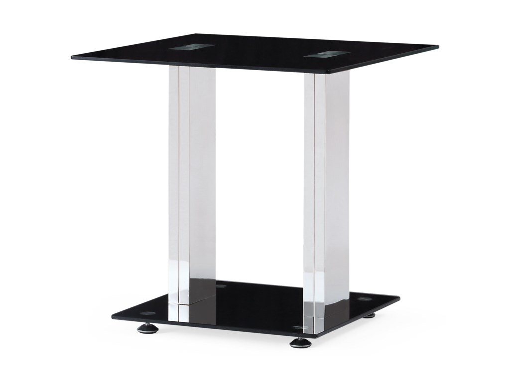 Global Furniture T252Glass End Table