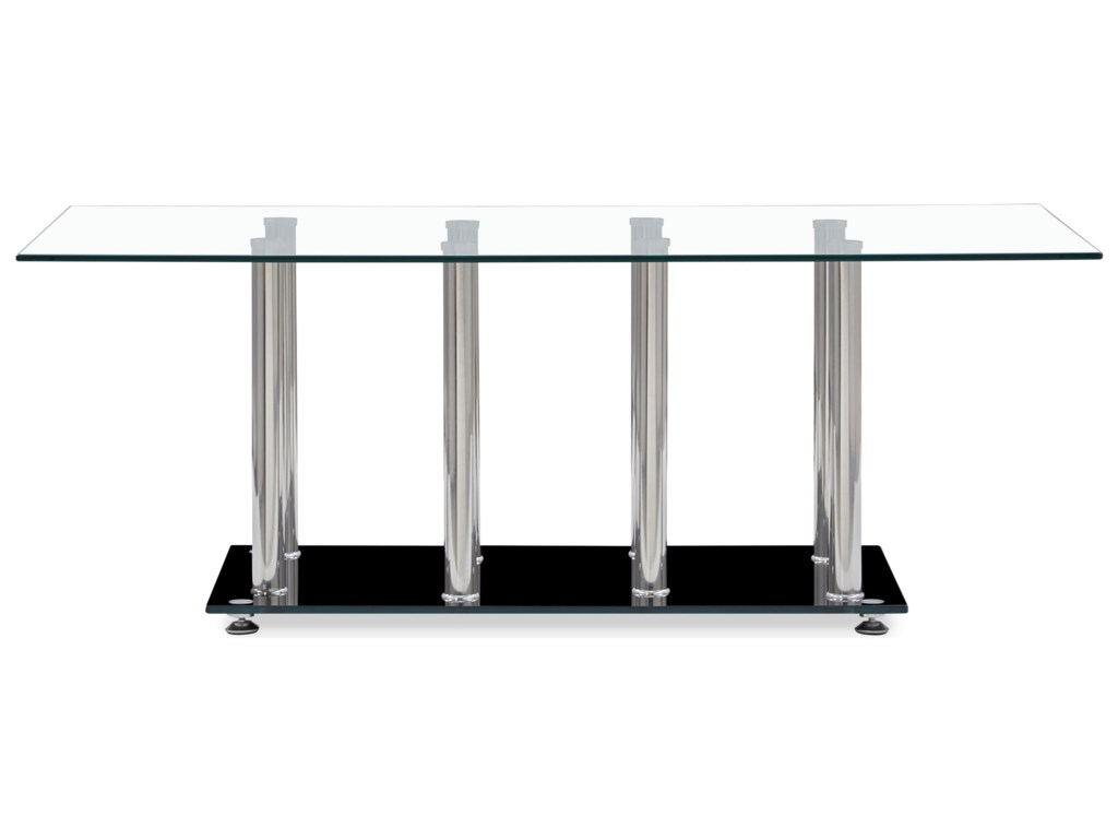 Global Furniture T368Tempered Glass Coffee Table