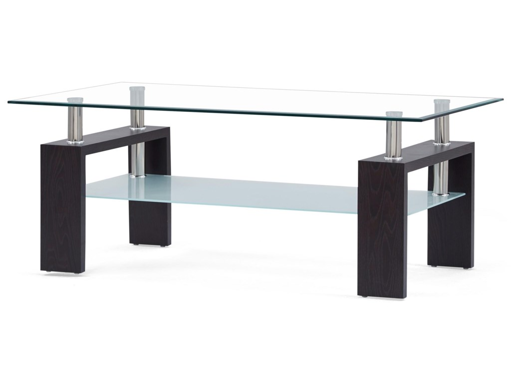 Global Furniture T646gl And Frosted Coffee Table