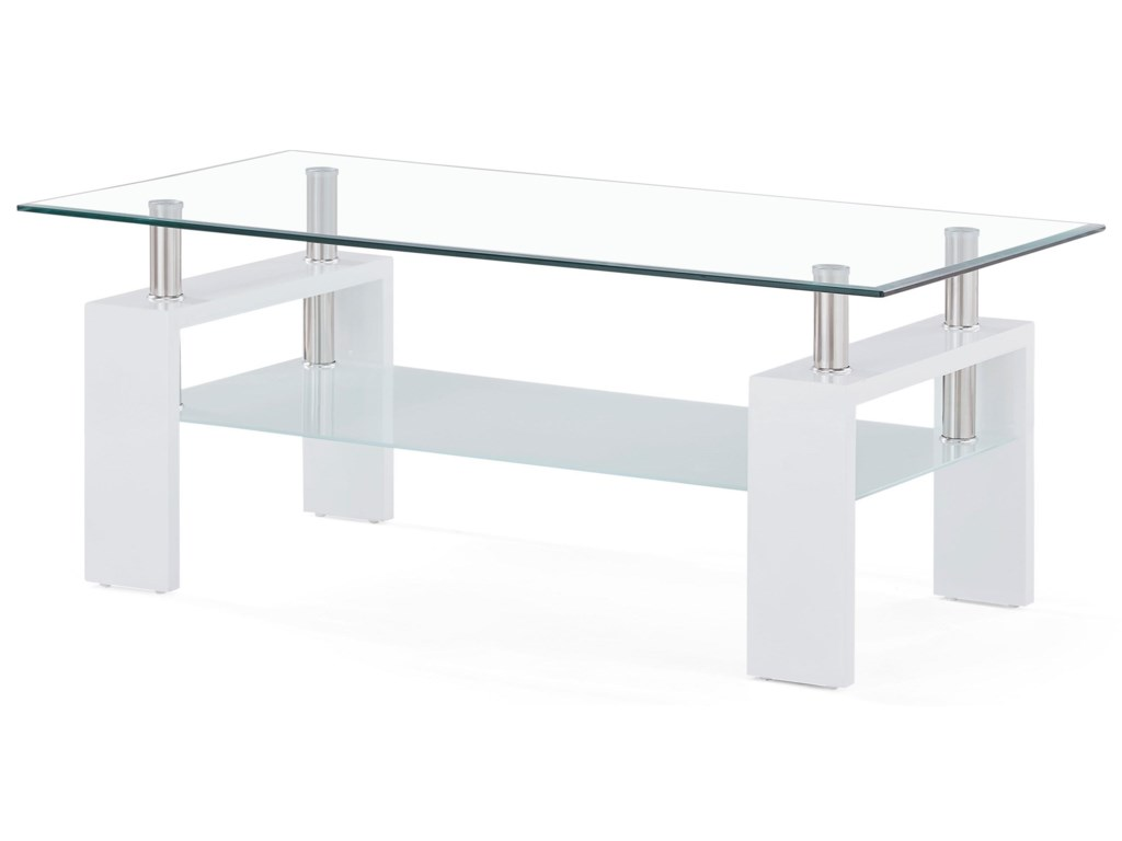 Global Furniture T648Glass And Frosted Coffee Table