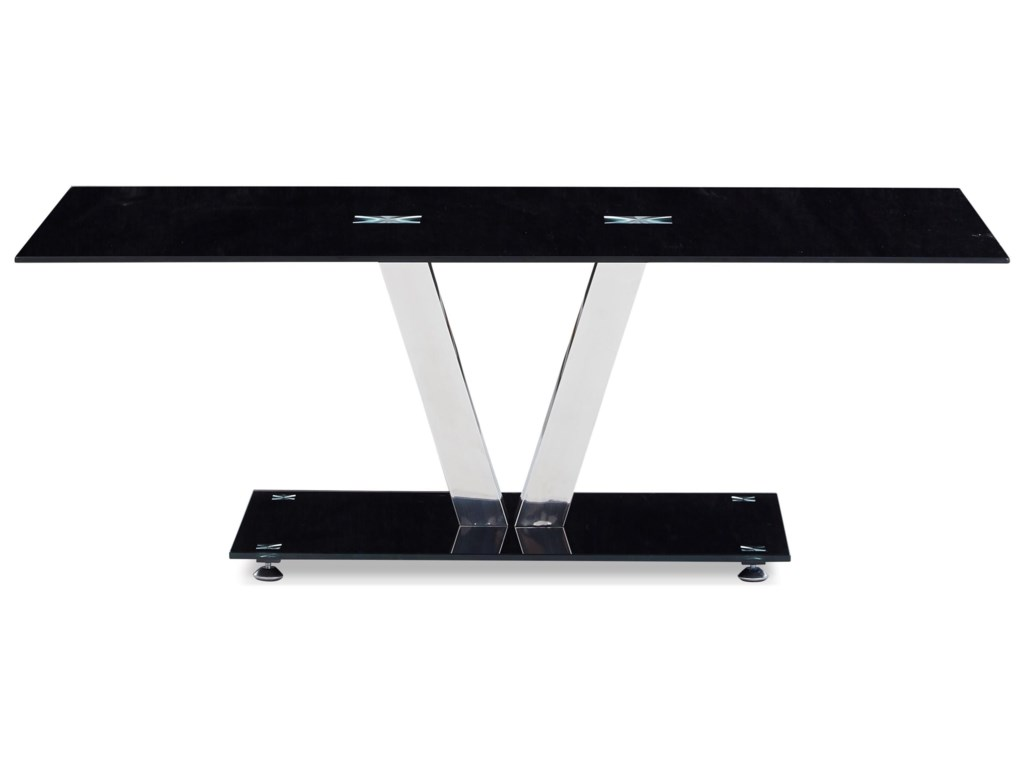 Global Furniture T655Tempered Glass Coffee Table