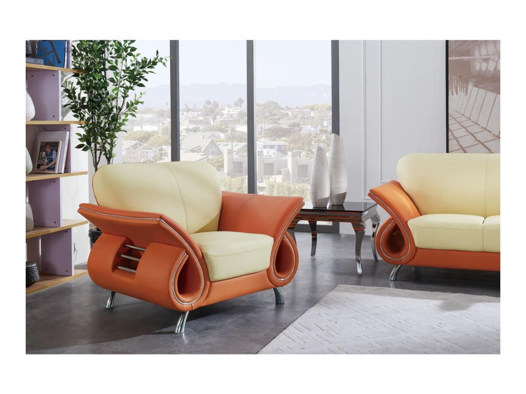 Global Furniture U559Chair with Flared Arms