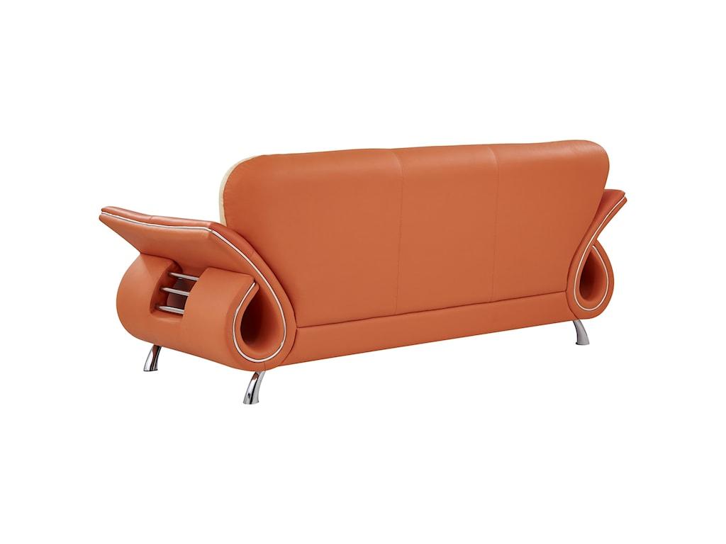 Global Furniture U559Sofa with Flared Arms